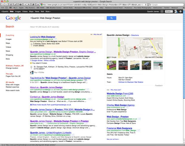 Improve your Google-fu with Quentin James Design, Preston