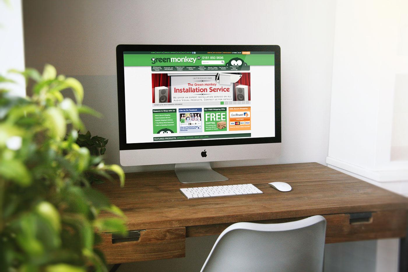 Green Monkey AV Magento Website Design