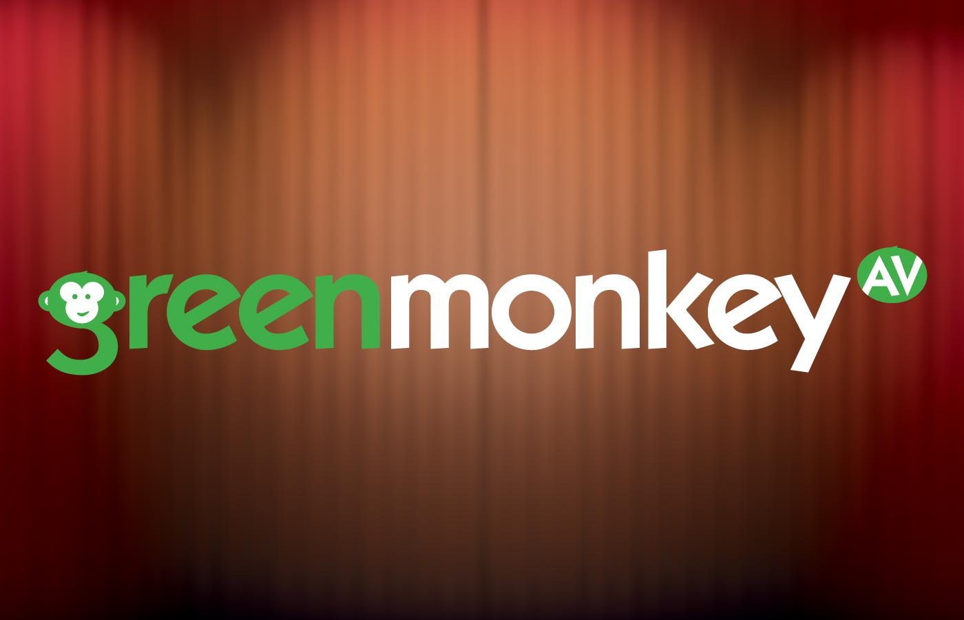 Green Monkey AV Logo Design