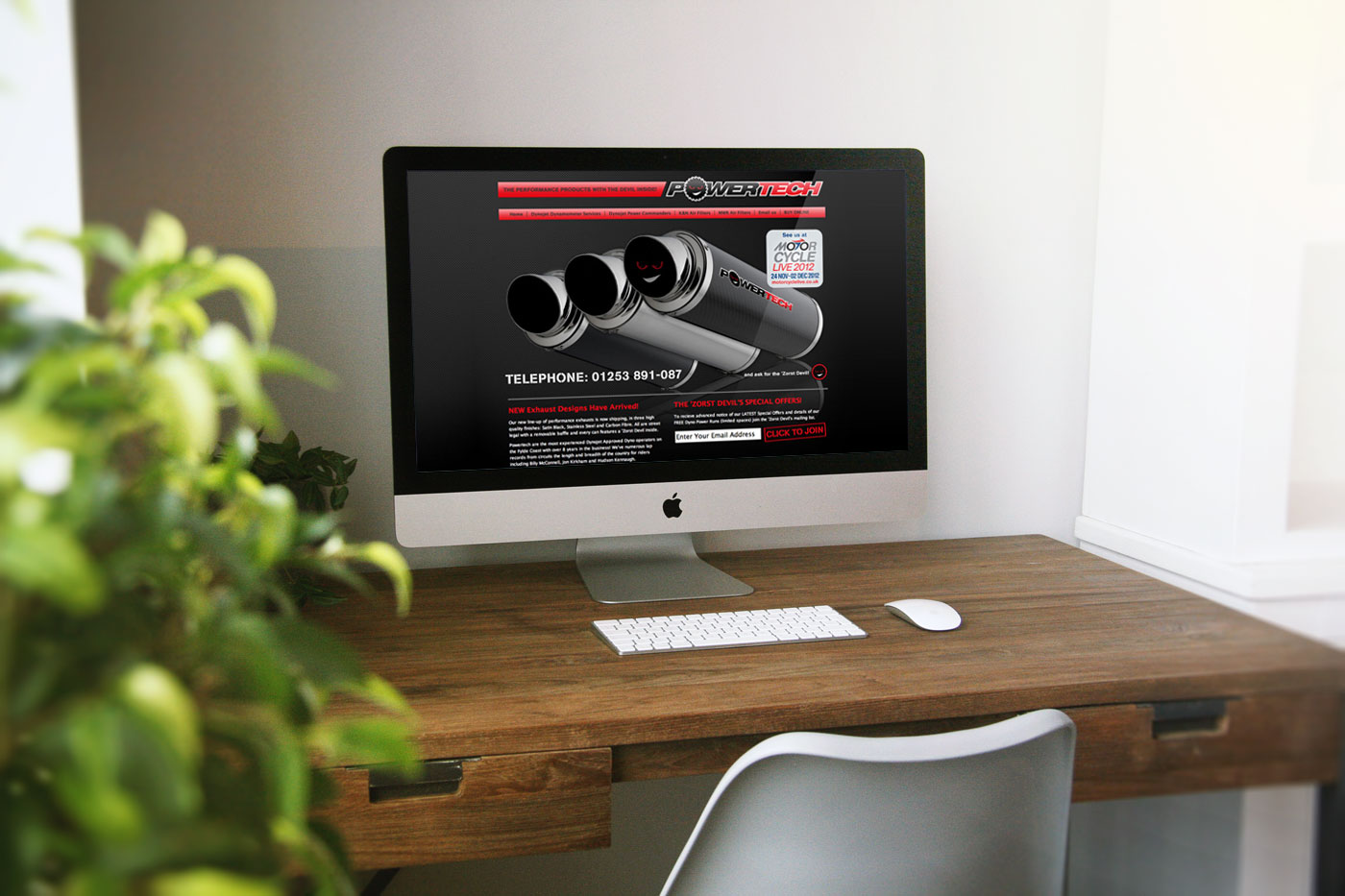 Powertech Website Design