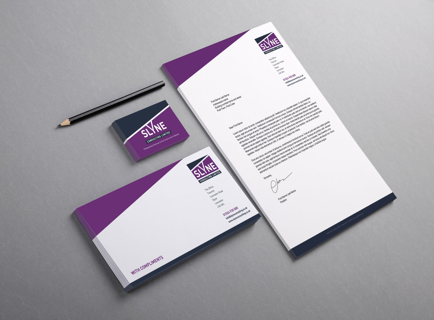 Slyne Consulting Letterhead Design | Quentin James Design