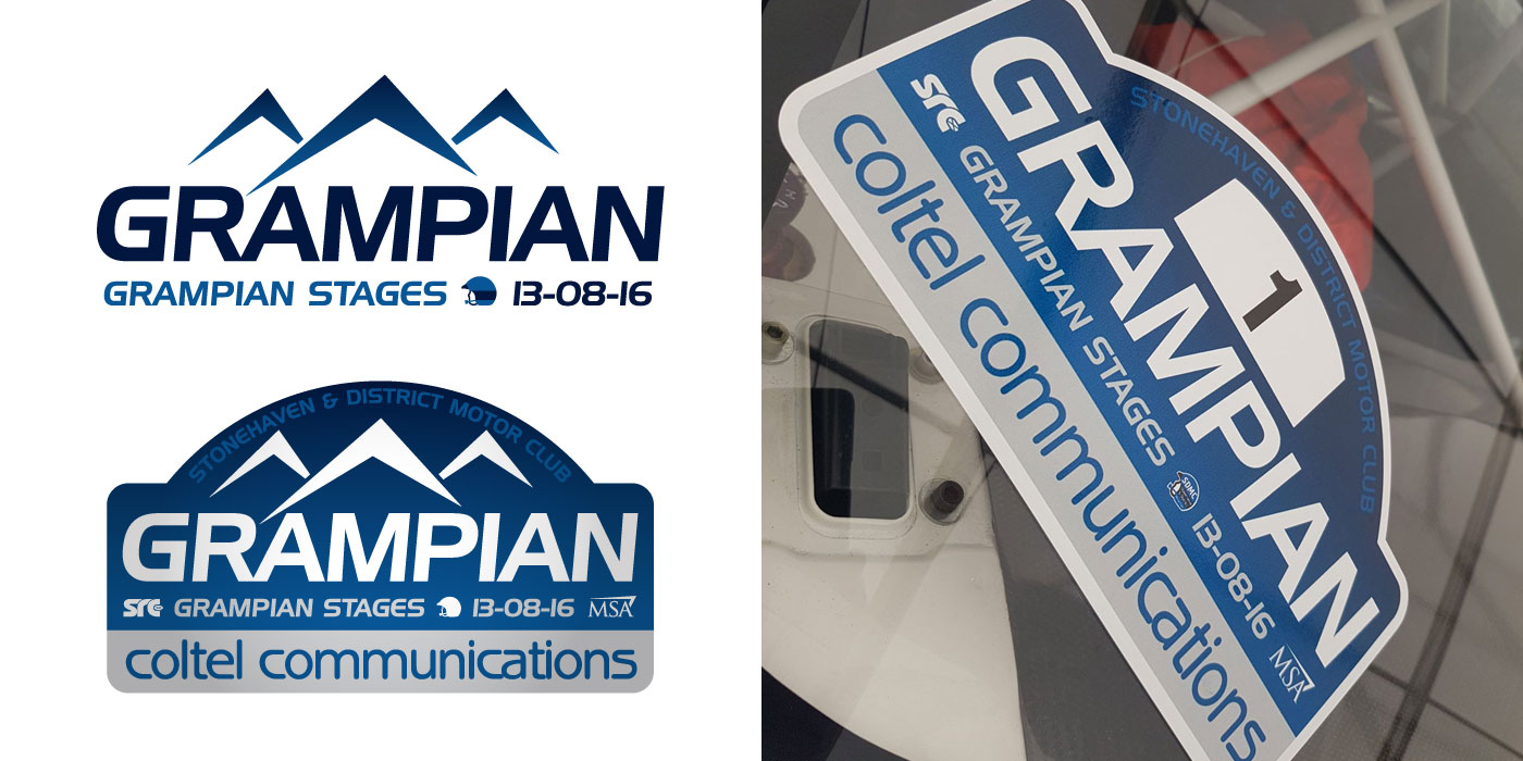Grampian Stages Rally Logo Design