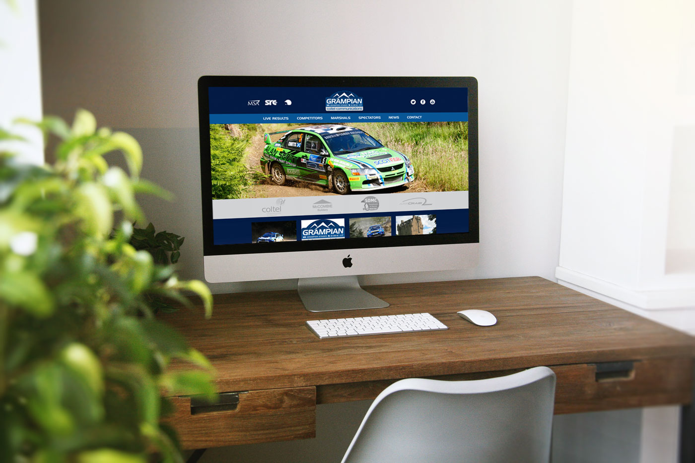 Grampian Stages Rally Website Design