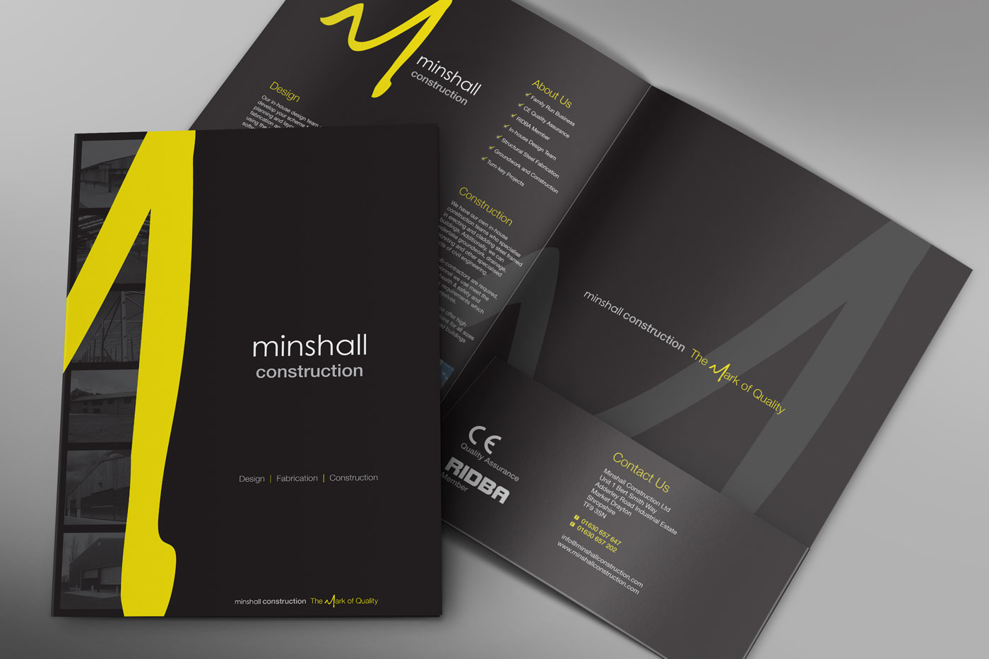 Minshall Construction Brochure Design Preston